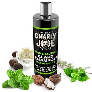 Gnarly Joe Beard Shampoo Liquid African Black Soap to reduce Beard Dandruff and Stop Dry Beards