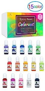 15 color resin dye