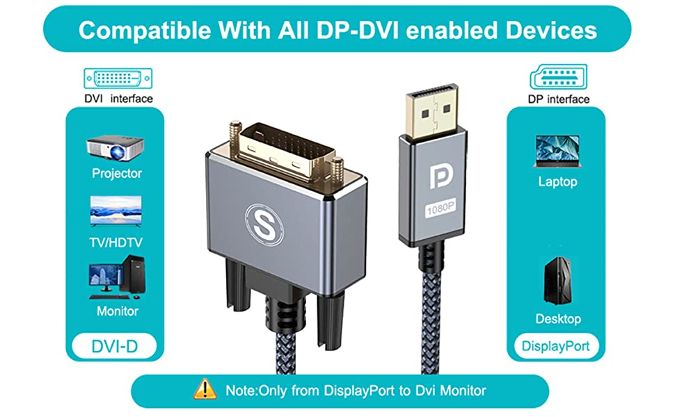 dp to dvi cable