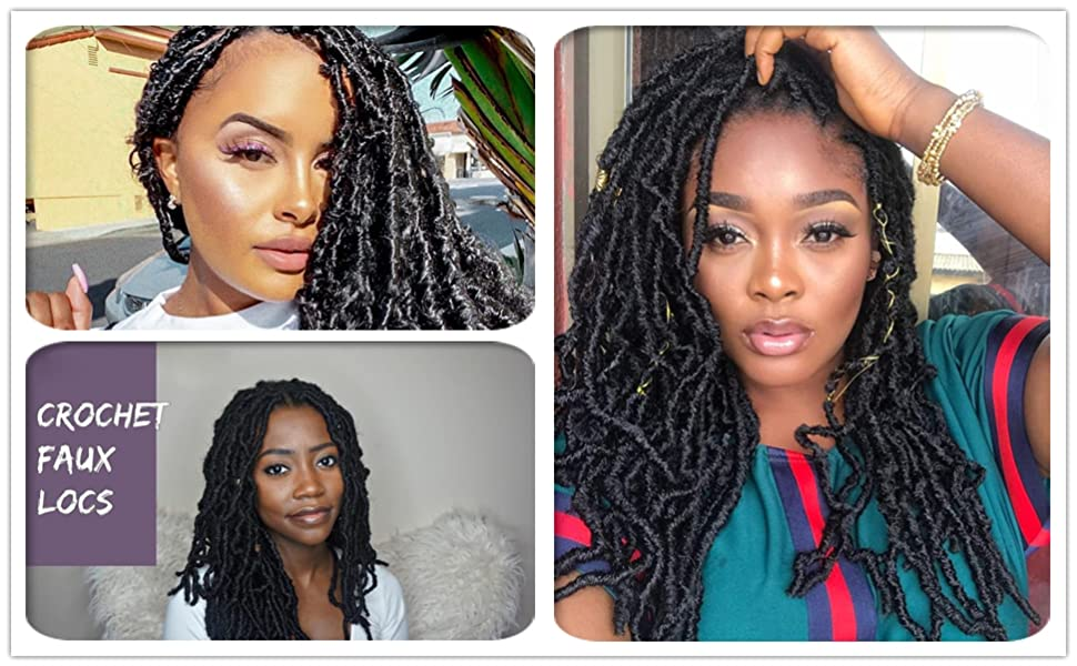 Faux Locs Crochet Hair Extension