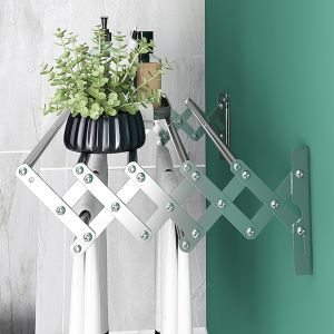 retractable drying clothing rack mounted clothes drying rack laundry wall rack folding laundry rack