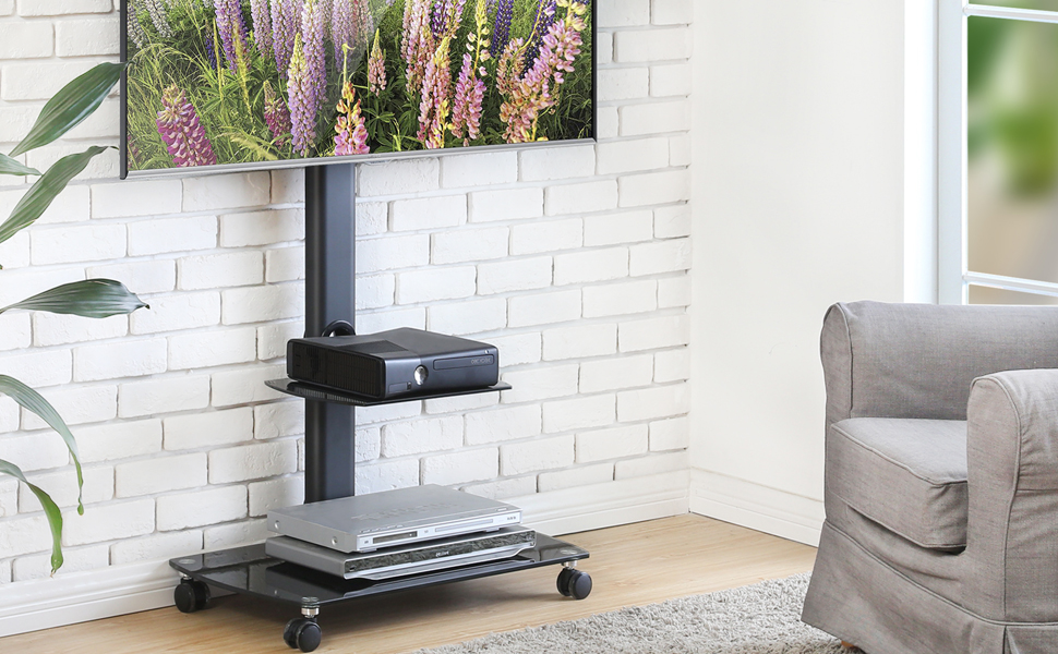 Mobile TV Cart Dispplay for Home Office fit 32 to 65 inch