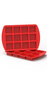 non stick silicone brownie baking pans with divided