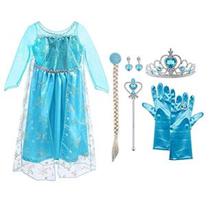 Vicloon - Disfraz de Princesa Elsa - Reino de Hielo - Vestido de ...