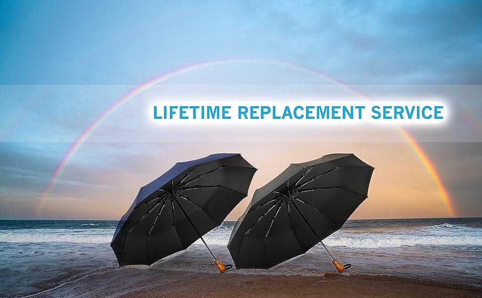 CEFIRO Umbrella, Golf Umbrella, compact travel large umbrellas for Women & Men, Small Mini windproof