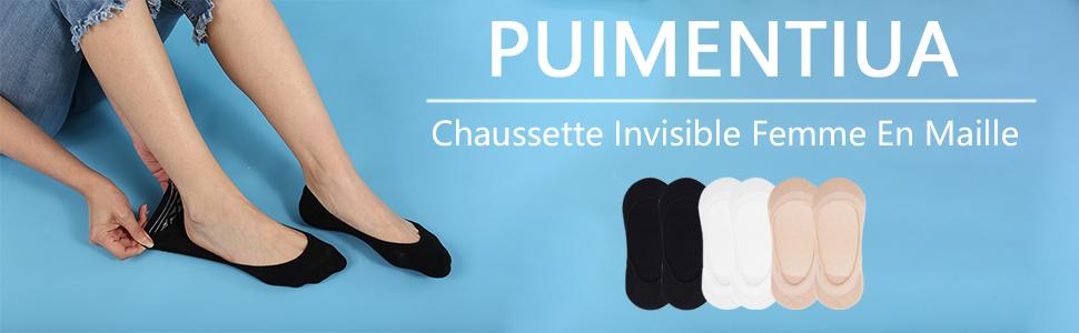 """Filles Femme à motifs transparent Socquettes /""""GUESS/"""" Taille Unique"""