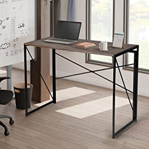 Writing Computer Desk Modern Simple Study Desk Industrial Style Folding Laptop Table for Home Office