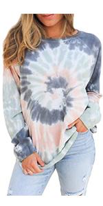 Women's Casual Comfy Tie Dye Sweatshirt