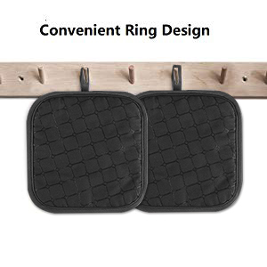 oven mitts black 3