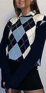 Argyle Pullover Sweater