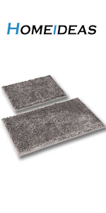 gray bath rug 2 piece