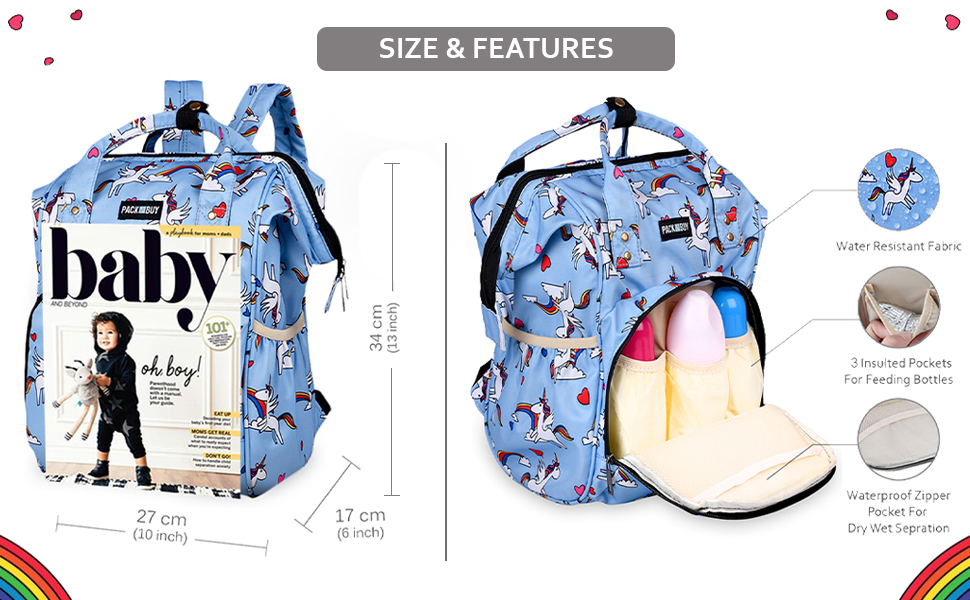 Multiple Compartments insulated water resistant lightweight spacious multifunctional large