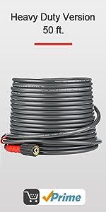 Flexible Improved 3200 PSI 50 FT Pressure Washer hose