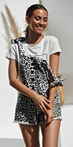 Womens leopard overall