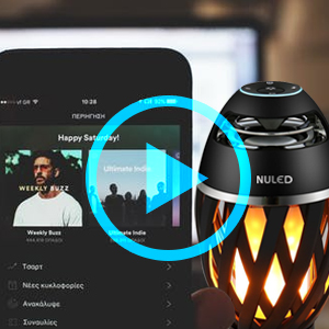 NULED Flame Speaker Bluetooth Capability Tiki Torch Portable