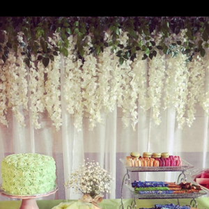 Hanging Garland Silk  Flowers for Party