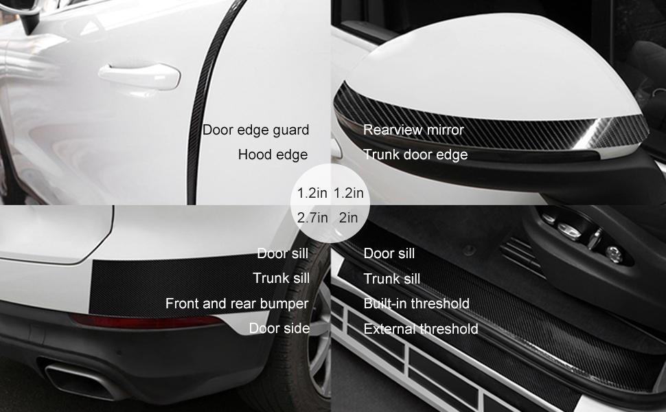 Car Door Protectors Edge Guards Car Door Protectors Car Bumper Protector Car Rear Bumper Protector Bumper Protector Black,One Size
