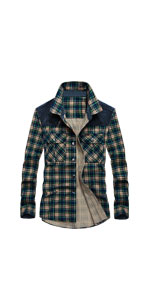 Plaid Corduroy Patchwork Shirt