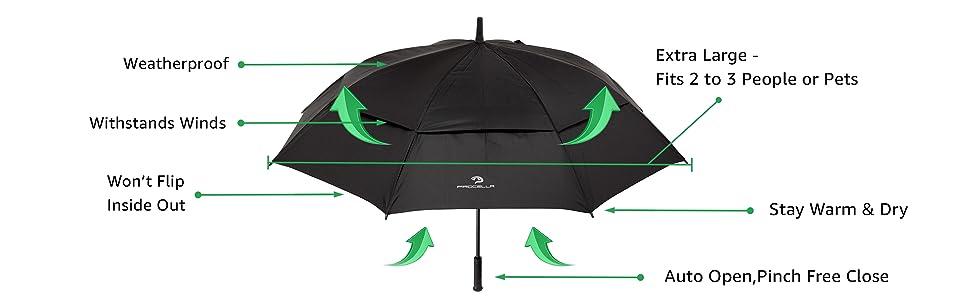 large umbrella black