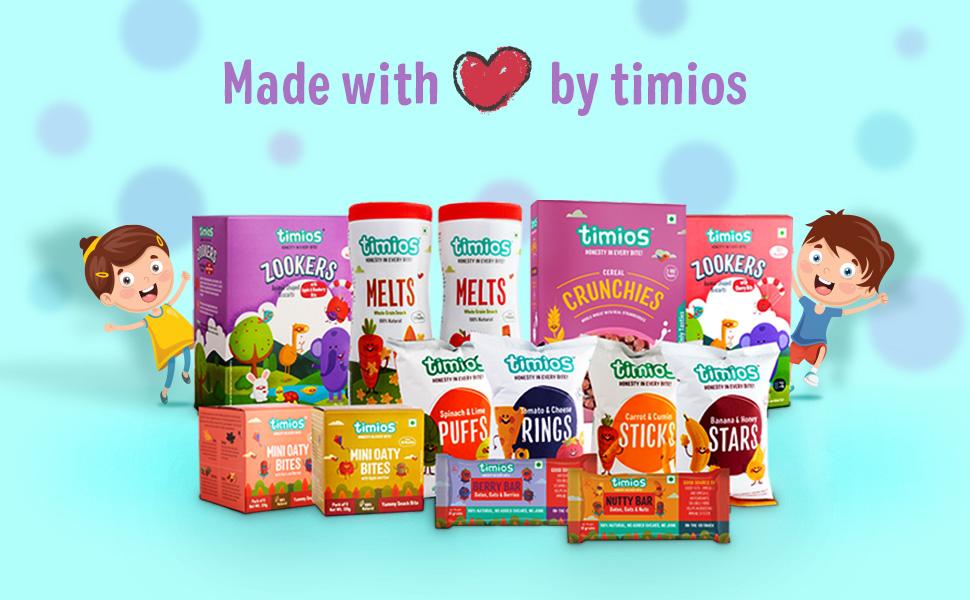 Timios, Snack, Finger Food, Biscuit, Energy Bar, Probiotic, Prebiotic, Melts, Oaty Bite, Kids Cereal