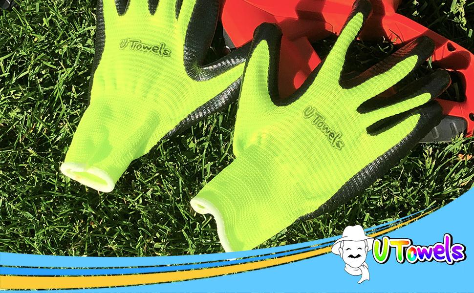 20 PAIRS Uvex Unipur Handling Gloves Abrasion-Resistant Gripper Work Gloves
