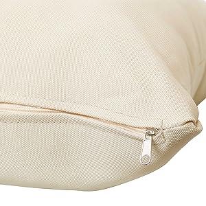 close up of zipper closure
