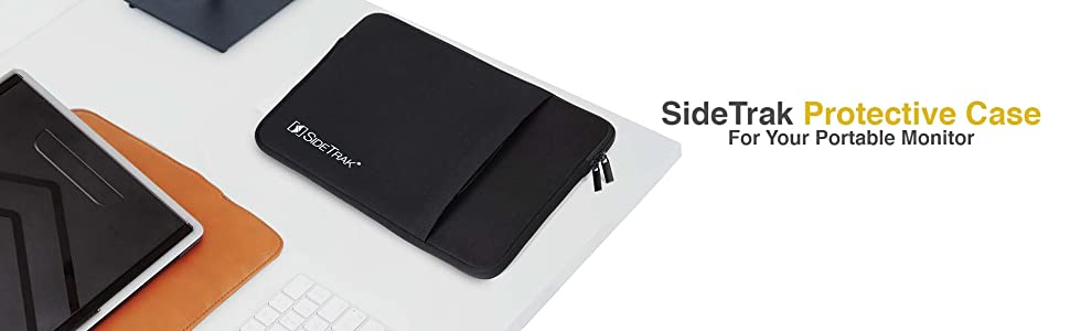 Sidetrak protective case sleeve for your sidetrak portable monitor swivel slide solo