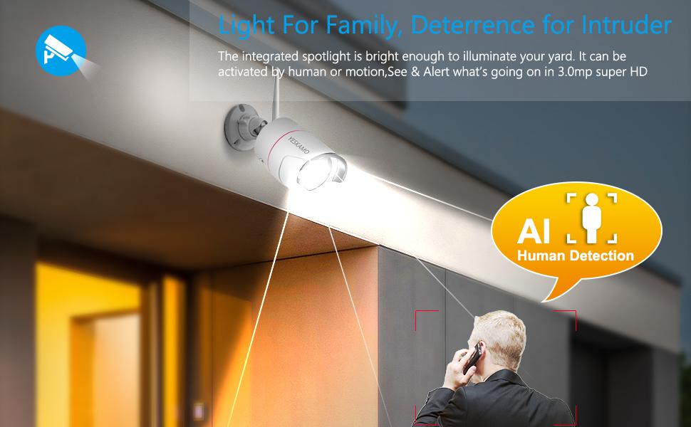 floodlight camera security