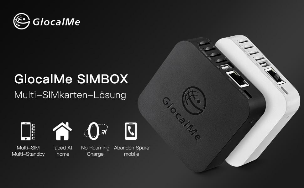 Multi-SIM-Kartenbox schwarz Verwalter für Verschiedene Glocalme Simbox