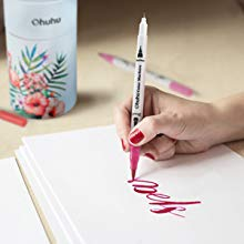 Dual Tips Coloring Brush Marker Fineliner Color Pens
