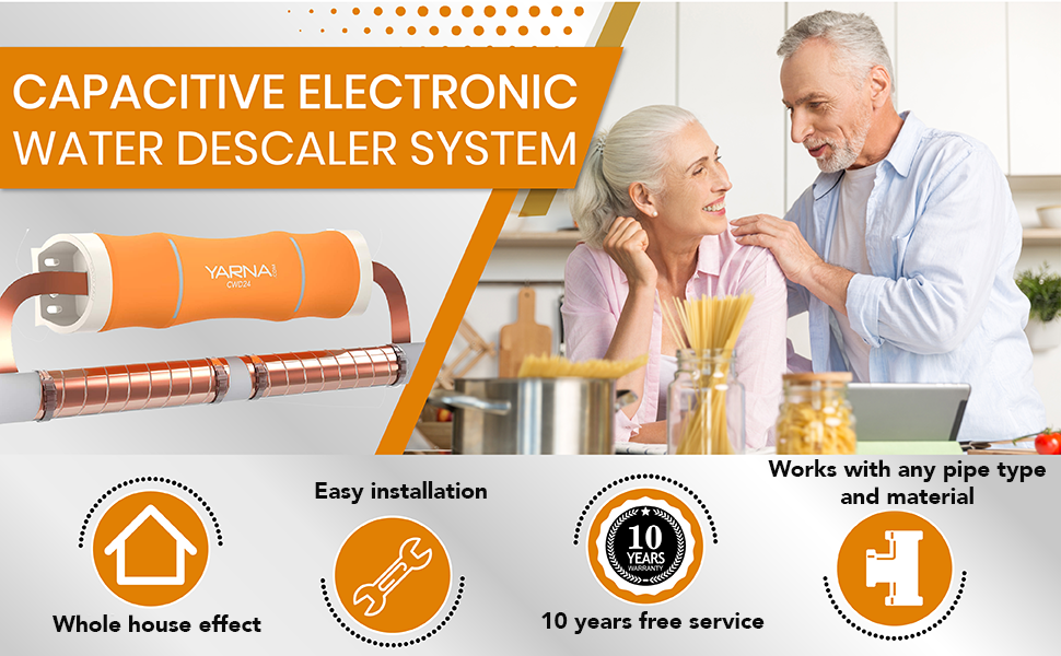 electronic water descaler  Capacitive Electronic Water Descaler System – Alternative Water Softener Salt Free for Whole House, Reduces the effects of Limescale and Rust formation [CWD24, Max 1″ Pipe] 4c8fcd12 1c74 4ec0 9a85 09f66aad4811