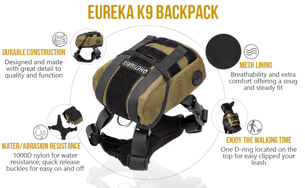 eurka k9 small dog puppy dog harness backpack