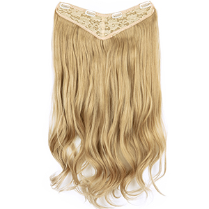 """22""""-26"""" V Part Clip in Hair Extensions 3/4 Full Thick Curly Wavy Straight Clip on Hairpieces"""
