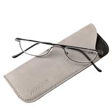 flat top alloy metal half frame reading glases