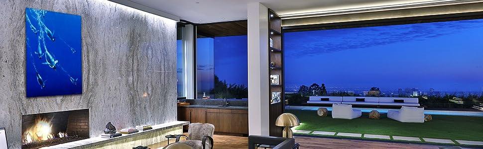 الملائكة الزرقاء تنوع غرفة المعيشة الفاخرة المعاصرة الحديثة ديكور المنزل القطب الشمالي تصميم