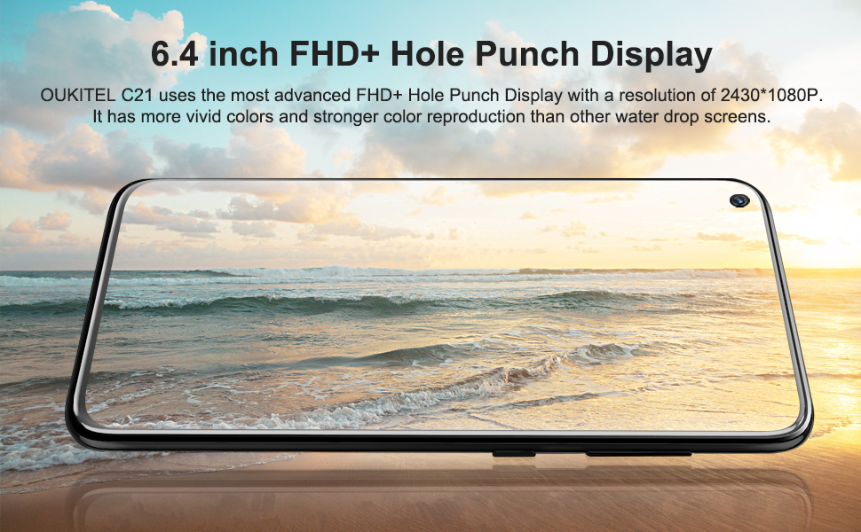 "6.4"" display"