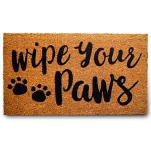 wipe your paws coir doormat