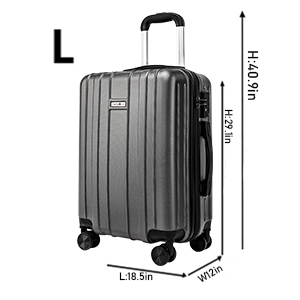 581d6dec246c CarryOne Super Lightweight ABS Hard Shell Travel Carry On Cabin Hand  Luggage Suitcase with 4 double Spinner Wheels TD3-Gold