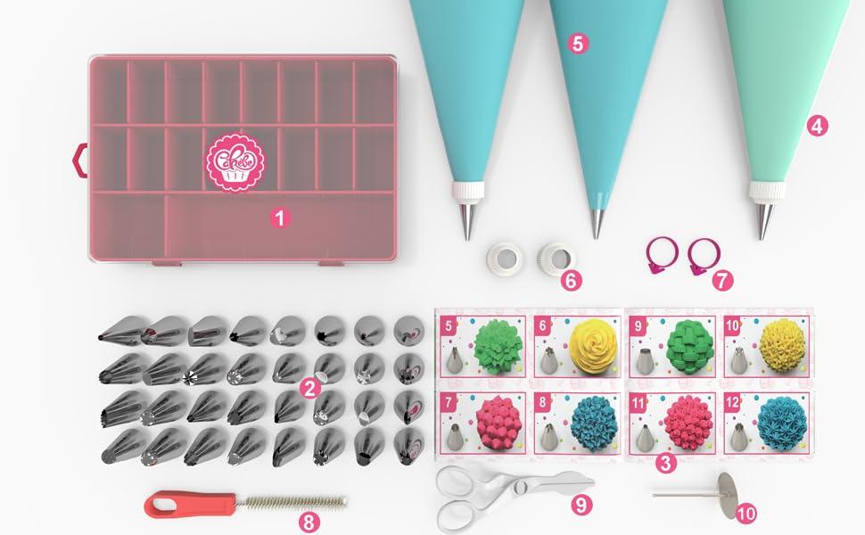 Cakebe 52 pcs Cake & Cupcake Decorating Tools Kit