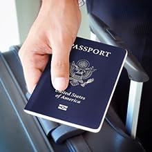 Travel safely, large pocket big enough for USA passport