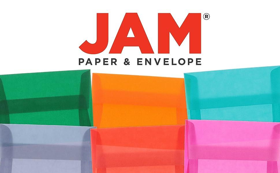 jam paper A6 translucent envelopes