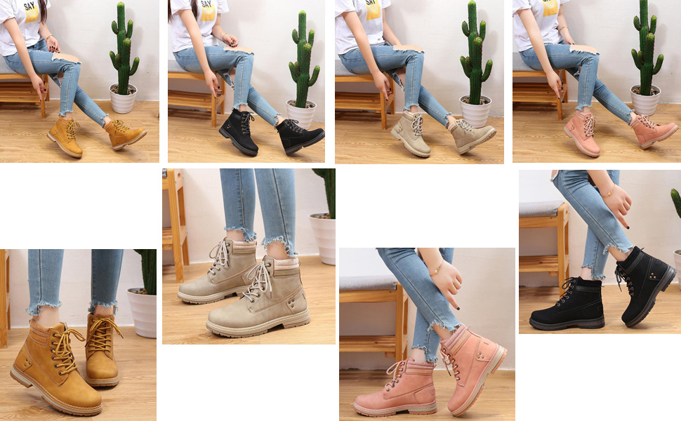 Womens combat ankle boots