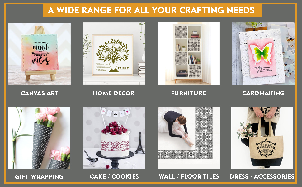 Wide Range Of Art and Craft Supplies - Wall Stencil Quotes for Painting Stencils With Quotes
