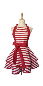 Red Stripe Apron