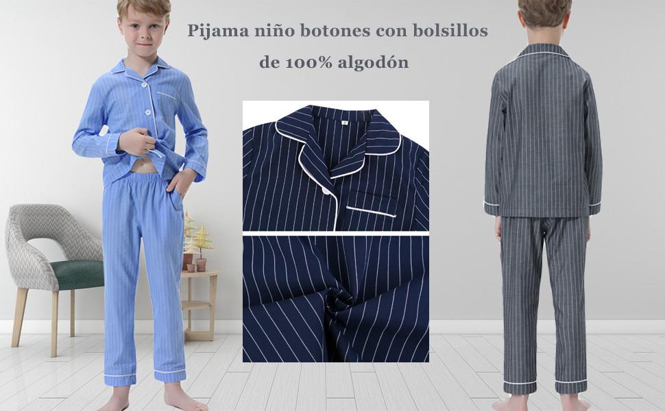 pijama niño invierno algodon