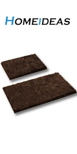 brown coffee chocolate bath rug 2 piece