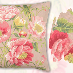 Peonies 2 French Tapestry Cushion