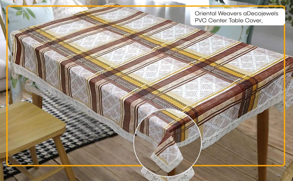 OrientalWeavers Decojewels PVC Center Table Cover,