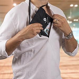 under shirt passport holder, passport keeper, , rfid buddy pouch, passport pouch rfid