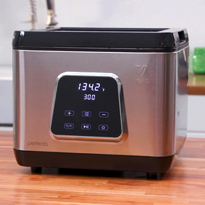 Perfecta all-in-one sous vide cooker on kitchen counter